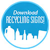 Download RECYCLING SIGNS! (blue semi-sticker)