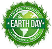 EARTH DAY 22 APRIL EARTH DAY (green grass seal)