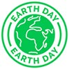 EARTH DAY (green simple stamp)