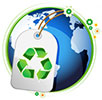 Earth - recycle tag