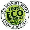 100% ECO FRIENDLY BOTTLE - CRUSH & RECYCLE