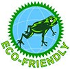 ECO-FRIENDLY (frog/Earth symbol, seal)