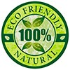 ECO FRIENDLY 100% NATURAL (stamp)