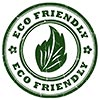 2 x ECO FRIENDLY + leaf (stamp)