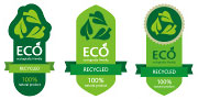eco recycle stock labels