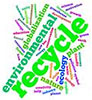 environmental recycle (jazzy lettering)