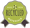 MADE FRON RECYCLED MATERIALS (seal)