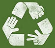 gestures on green (recycle)