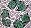 glass mosaic (recycling sign)