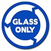 GLASS ONLY (white on blue)