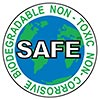 SAFE: BIODEGRADABLE - NON-TOXIC - NON-CORROSIVE (US)