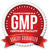 Mfd in a GMP CERTIFIED FACILITY - QUALITY GUARANTEED (seal)