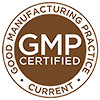 GMP CERTIFIED CURRENT (brown stock stamp)