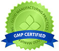 GMP CERTIFIED (green seal)