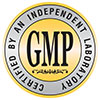 GMP - CERTIFIED BY AN INDEPENDENT LABORATORY