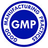 GMP - Good Manufacturing Practice (logo, blue)