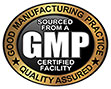 GMP QUALITY ASSURED (gold seal)