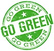 GO GREEN (stamp)