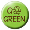 GO GREEN (recycling badge)