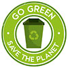 GO GREEN - SAVE THE PLANET (stock)
