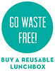 GO WASTE FREE! BUY A REUSABLE LUNCHBOX (US)