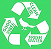 GOOD VIBES - CLEAR AIR - FRESH WATER - recycling