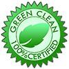 GREEN CLEAN 100% CERTIFIED (seal)