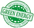 GREEN ENERGY 100% (stamp)
