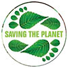 [green footprints] SAVING THE PLANET (US)