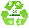 GO GREEN - recycling (hand-made)