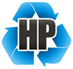 HP textile recycling (logo, PL)