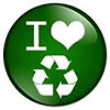 I love recycling (green badge)