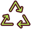 recycling triangle icon