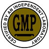 GMP CERTIFIED BY AN INDEPENDENT LABORATORY