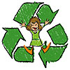 kids recycle paper