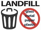 LANDFILL restrictions: NO glass metal paper plastic