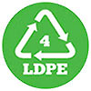4 LDPE plastic mark