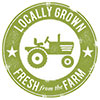 LOCALLY GROWN - FRESH from the FARM (stamp)