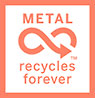 METAL recycles forever (mark, Metal Packaging Europe, EU)