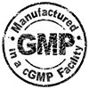 GMP MANUFACTURED in a cGMP FACILITY (stamp)
