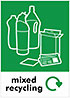 mixed recycling (info, UK)