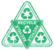 multiple recycling triangle (stock)