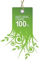 natural fibre 100% (green tab)