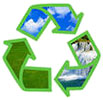 nature recycling (green outline frame)