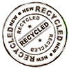 NEW RECYCLED (stamp)