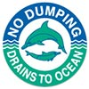 NO DUMPING - DRAINS TO OCEAN