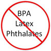 [NO:] BPA / Latex / Phthalates (thin red ban)