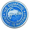 NO DUMPING - DRAINS TO WATERWAY (US)