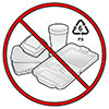 no styrofoam packagings (#6 PS ban)