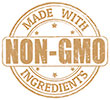 MADE WITH NON-GMO INGREDIENTS (brown stamp)